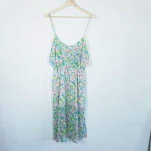 Topshop size 8 Floral midi length Dress